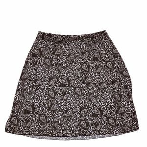 CATO Brown and White Abstract Skirt XL